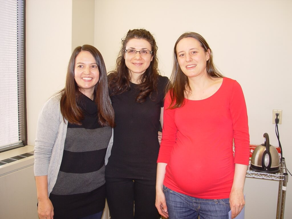 Dapasoft hosts a maternity going-away party for one of our team members, Maria